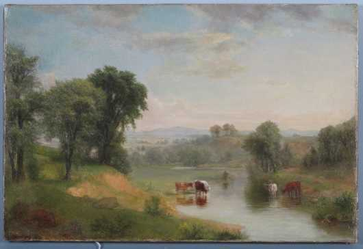 Asher Brown Durand,  oil on canvas landscape