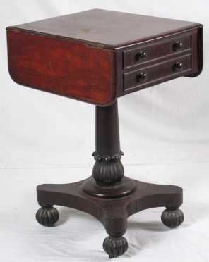 English Empire Two Drawer Stand
