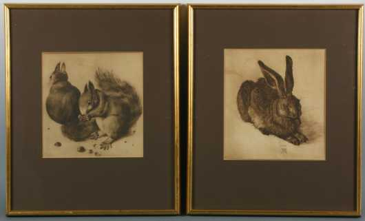 Lot of Two Prints by Albrecht Durer