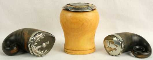 Lot of Three small Snuff Boxes