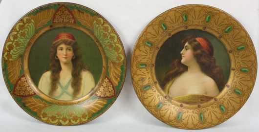 Pair of Tin Advertising Plates