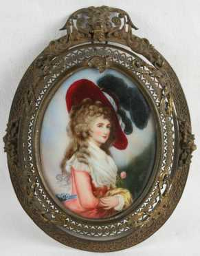 Oil on Ivory of The Duchess of Devonshire