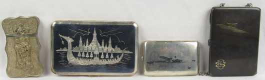 Two Japanese Silver and Two Asian Cigarette Cases