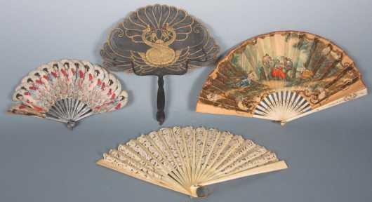 Four Oriental Fans