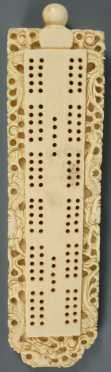 Chinese Ivory Cribbage Board