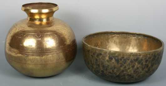 Two Metal Vessels