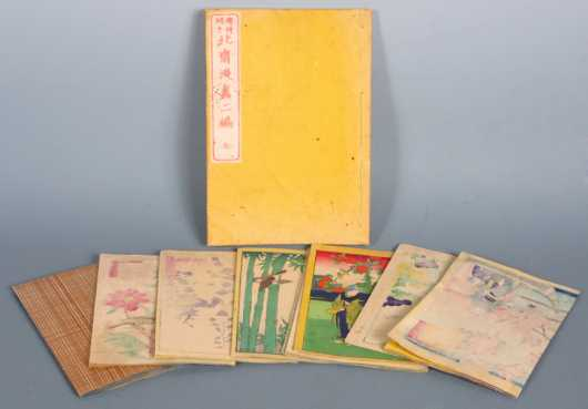 Collection of Seven Japanese Block Print Art Books