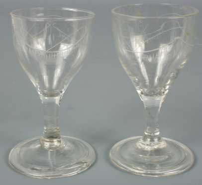 Pair of Glass Cordials