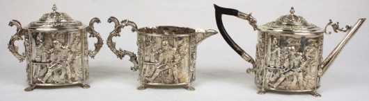 Dutch Export Silver Tea Set
