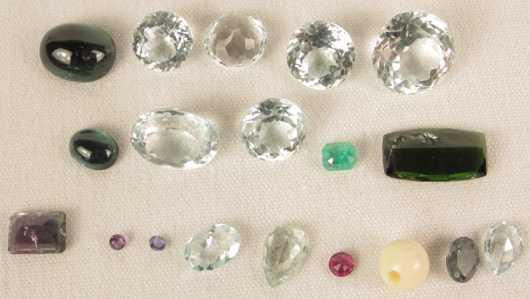 Nineteen Miscellaneous Jewelry Stones