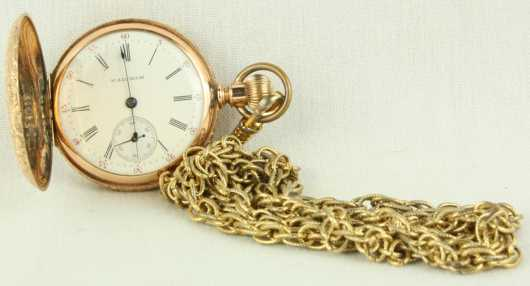 Yellow Gold Ladies Watch, marked Waltham