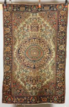 Antique Sarouk Oriental Scatter Rug