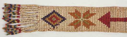 Native American Beadwork Sash