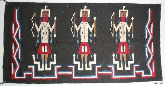 Yei Figural Navajo Blanket