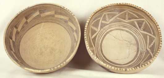 Two Anasazi Decorated Bowls
