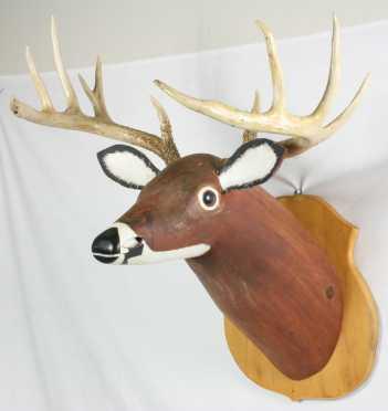 Louis Jeremy Carved Deer Head