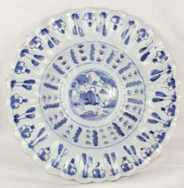 English Delft Deep Dish Bowl