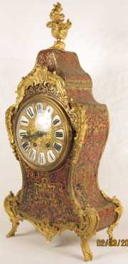 French Tortoise Shell Mantle Clock