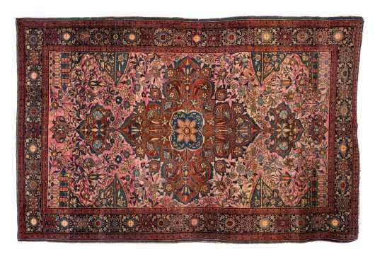 Old Persian Kashan Scatter Size Oriental Rug