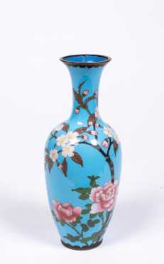 """Chinese Cloisonne 9 3/4"""" Tall Vase"""