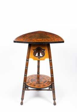 C1890 Inlaid Continental Two Tier Stand