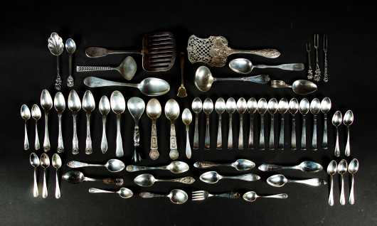 Sterling Silver Spoon and Serving Lot