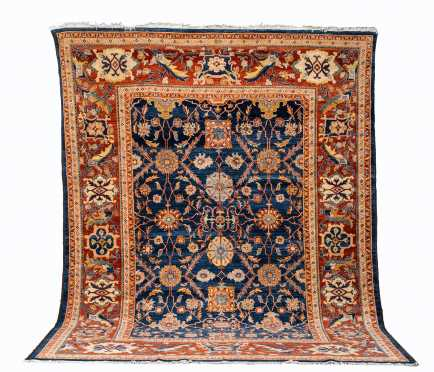 Modern Heriz Style Room Size Oriental Rug