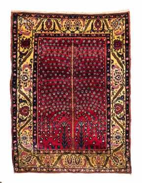Antique Tabriz Tree of Life Scatter Size Oriental Rug