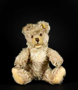 """Vintage Steiff 14"""" Champagne Mohair Teddy Bear"""