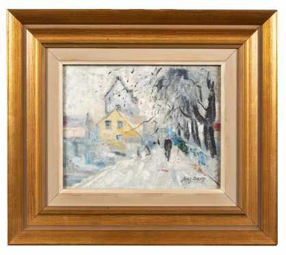Winter Scene Oil on Artist Board