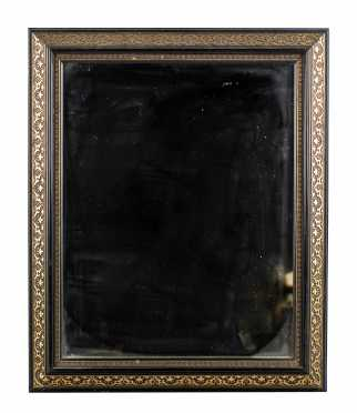 20thC Cut Out Brass Trimmed Mirror