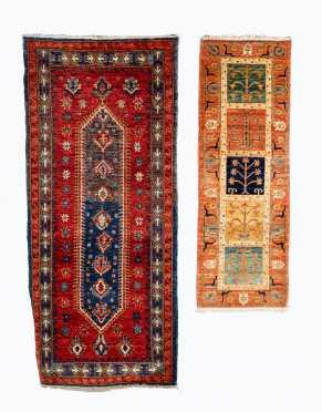 Two Modern Oriental Scatter Rugs