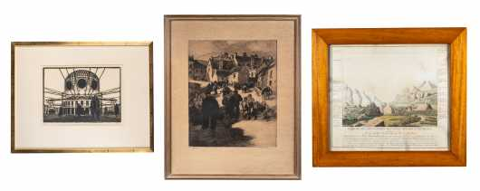 Lot of Three Etchings and Prints