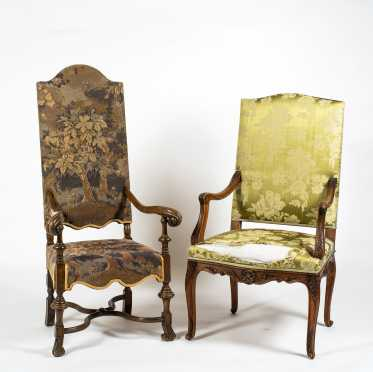 Two Reproduction Continental Style Armchairs