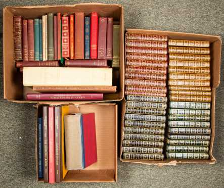 Three Boxes of Miscellaneous Leather Books