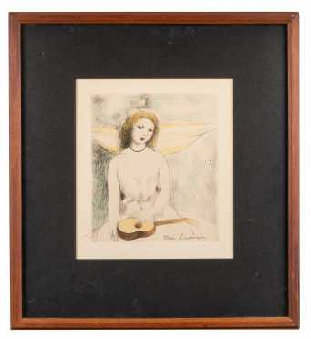 Colored Etching by Marie Laurencin, French (1885-1956)