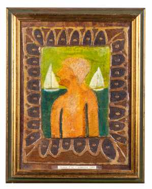 """Mixed Media Profile Titled """"Thomas d'or - Sommaren 1980"""""""