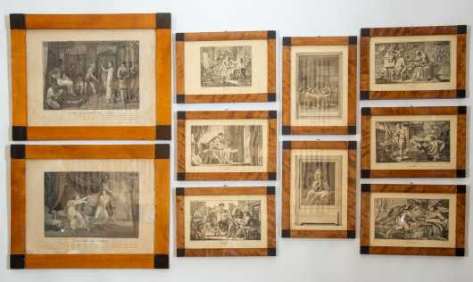 Lot of Ten Matching Framed Classical Prints