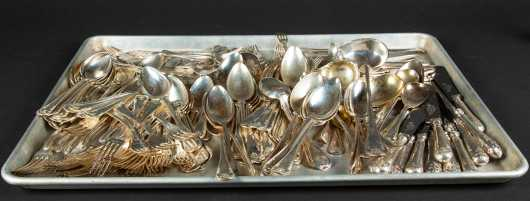 Large Swedish Silver Plated Flatware