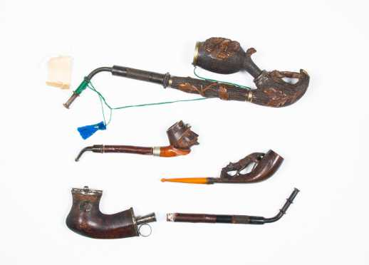 Lot of Four Antique German Pipes
