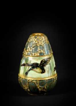 """""""Amphora"""" Austria Geese Decorated Vase"""