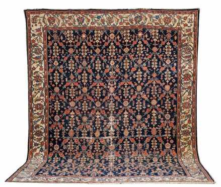 Semi-Antique Heriz Room Size Oriental Rug