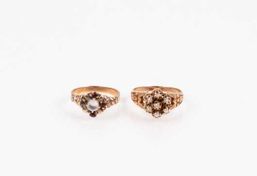 Two Rose Gold Victorian Rings