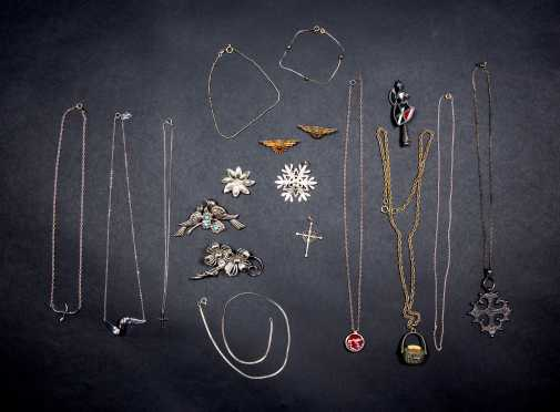Lot of Sterling and Silver Tone Jewelry