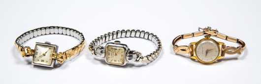 Three Vintage Gubelin Ladies Watches