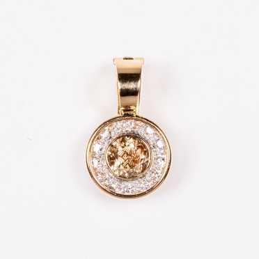 Impressive Cognac Diamond Conversion Pendant