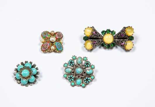 Four Costume Brooches