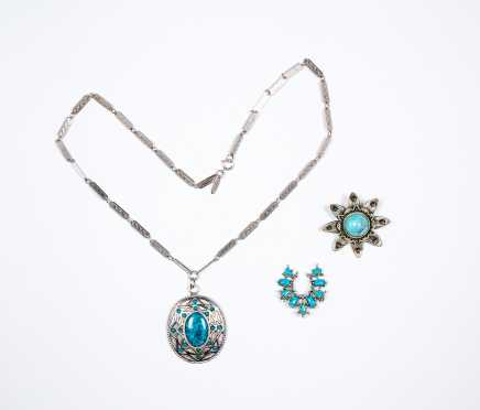 Whiting Davis Necklace Plus Two Other Pieces Costume Jewelry