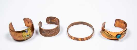 Four Copper Bracelets