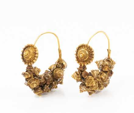 Antique 20K Hoops Earrings
